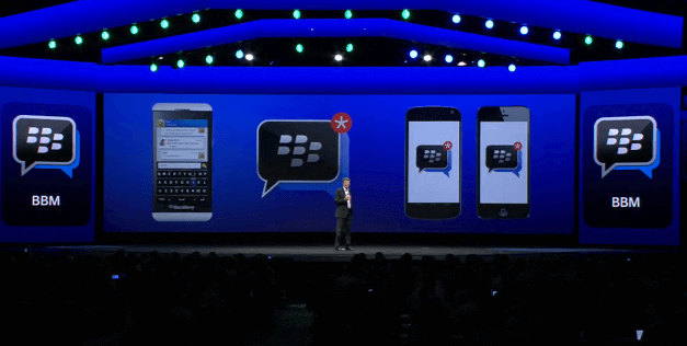 blackberry on ios and andoid
