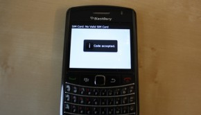 how to enter blackberry unlock code