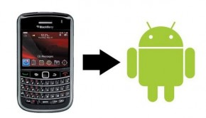 Transfer contact from blackberry to android