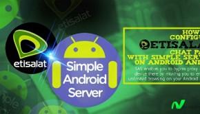 etisalat smartpak simple android server