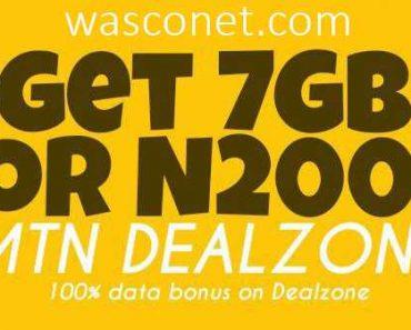 MTN 7gb for 2000 naira